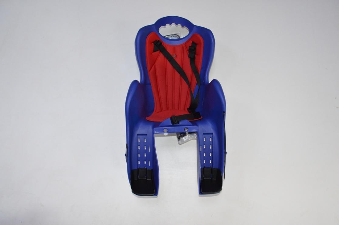 Велокресло детское на раму, крепеж за подседельную трубу, модель Elibas T, Цвет: синий, код 92070544
