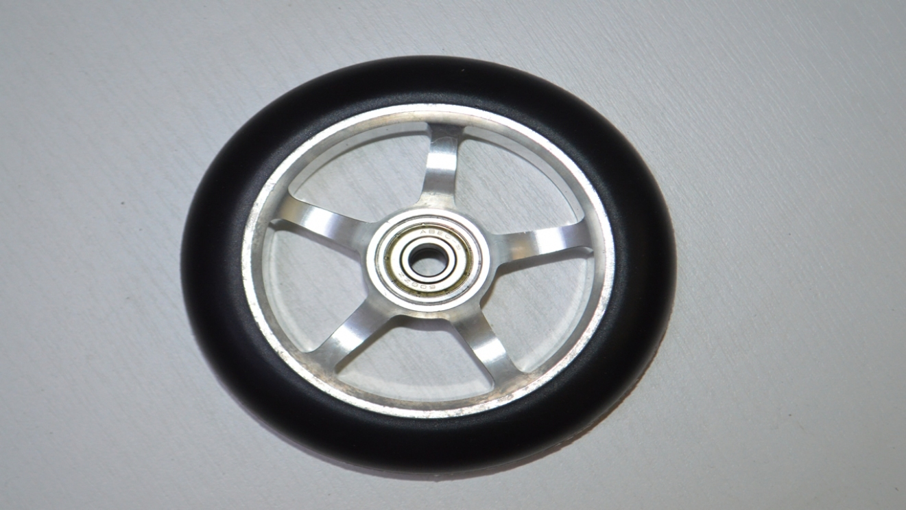 Колесо для трюкового самоката 110mm алюм. PU with Aluminium core, код 78112